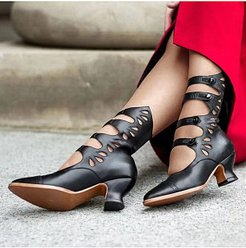 Cutout toe heeled Roman sandals online stores, stores and shops,
