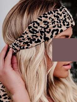 New simple and fashionable leopard print headband stores and shops, online sale,