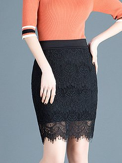 Autumn and winter new lace elastic plus size bag hip skirt stores and shops, shoppers stop,
