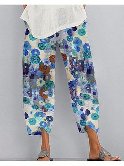 Floral Loose Casual Pants online shop, shop,