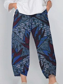 Casual slit printed wide-leg pants clothing stores, online shopping sites,