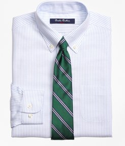 Boys' Non-Iron Supima Cotton Oxford Stripe Dress Shirt