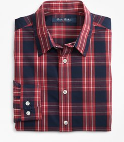 Boys' Non-Iron Outlined Plaid Sport Shirt