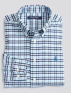 Boys' Non-Iron Stretch Cotton Oxford Multi-Gingham Sport Shirt