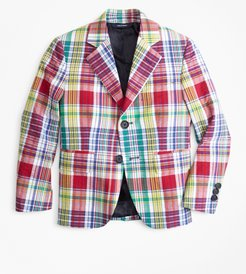 Boys' Two-Button Madras Seersucker Sport Coat