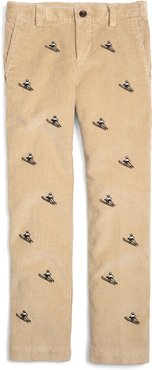 Boys' 8-Wale Embroided Corduroys