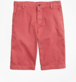 Boys' Washed Cotton Stretch Chino Shorts