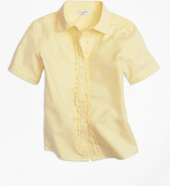 Girls' Girls Non-Iron Short-Sleeve Oxford