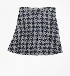 Girls' Girls Jacquard Houndstooth Skirt