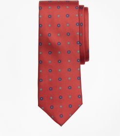 Flower Medallion Print Tie