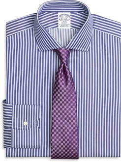 Regent Fitted Dress Shirt, Split Stripe