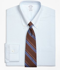 Regent Fitted Dress Shirt, Non-Iron Double Tattersall