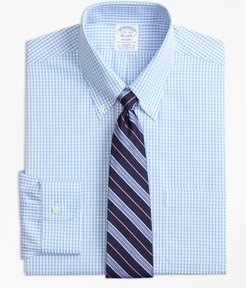 Stretch Regent Fitted Dress Shirt, Non-Iron Gingham