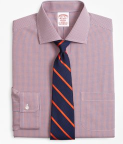 Stretch Madison Classic-Fit Dress Shirt, Non-Iron Two-Tone Gingham