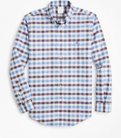 Non-Iron Milano Fit Multi-Gingham Dobby Sport Shirt