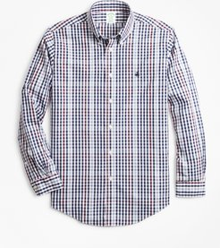 Non-Iron Milano Fit Multi-Gingham Sport Shirt