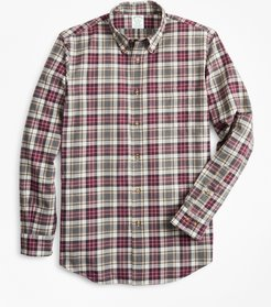 Milano Fit Multi-Plaid Brushed Flannel Sport Shirt