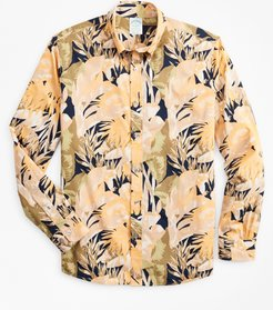 Milano Slim-Fit Sport Shirt, Tropical Print