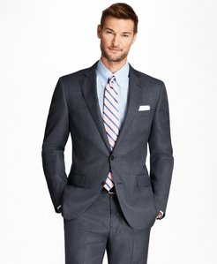 Regent Fit Saxxon™ Wool Bird's-Eye 1818 Suit