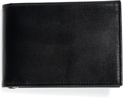 French Calfskin Slim Wallet With Money Clip