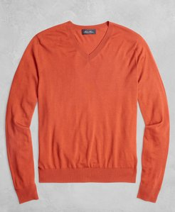 Golden Fleece 3-D Knit Fine-Gauge Merino V-Neck Sweater