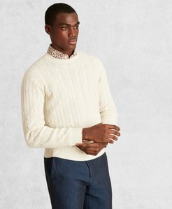 Golden Fleece 3-D Knit Cable Crewneck Sweater