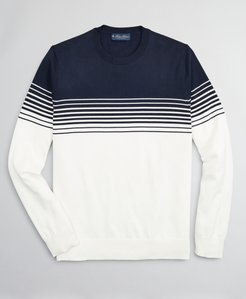 Nautical Stripe Supima Crewneck Sweater