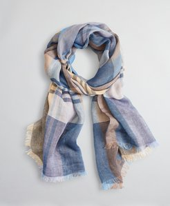 Plaid Linen Scarf