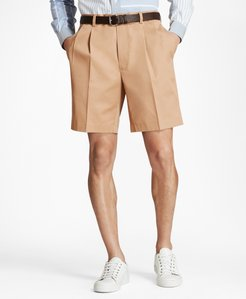 Pleat Front Stretch Advantage Chino Shorts