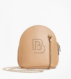Logo-Embellished Leather Crossbody Bag