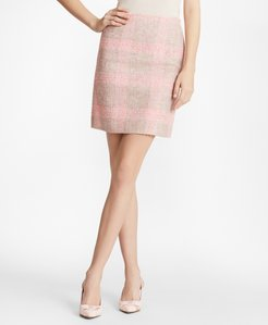 Checked Boucle Skirt