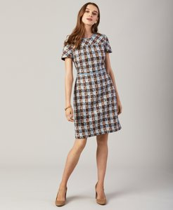 Checked Shimmer Boucle Dress