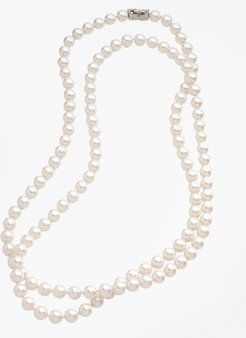 Glass Pearl Long Necklace