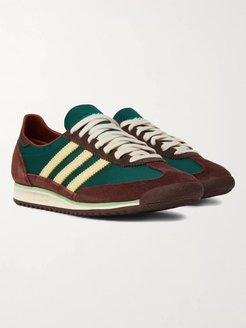 Wales Bonner SL72 Shell, Leather and Suede Sneakers - Men - Green