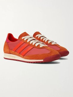 Wales Bonner SL72 Shell, Leather and Suede Sneakers - Men - Pink