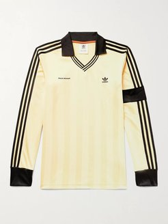 Wales Bonner Logo-Embroidered Striped Jersey T-Shirt - Men - Yellow