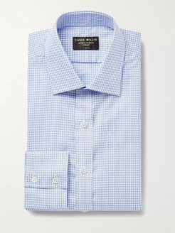 Slim-Fit Checked Cotton Oxford Shirt - Men - Blue
