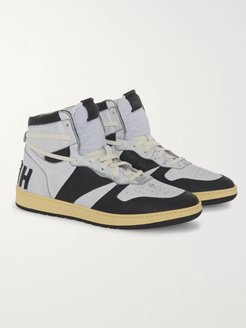 Rhecess Suede and Leather High-Top Sneakers - Men - Gray
