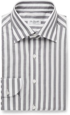 Fortino Slim-Fit Striped Cotton Shirt - Men - White