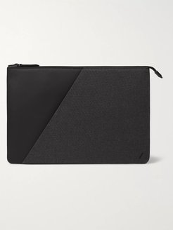 Stow Sleeve Shell and Woven Laptop Case - Men - Gray
