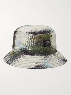 Earl Printed Nylon-Ripstop Bucket Hat - Men - Blue