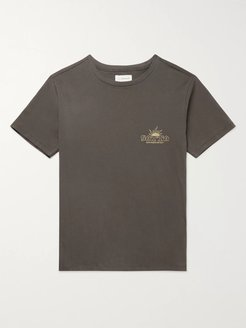 Logo-Print Organic Cotton-Jersey T-Shirt - Men - Gray