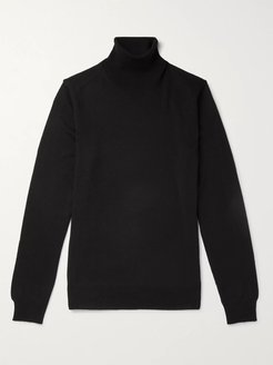 Wool Rollneck Sweater - Men - Black