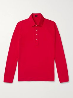 Slim-Fit Cotton-Jersey Polo Shirt - Men - Red