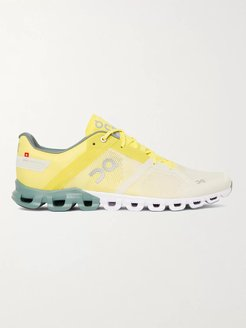 Cloudflow Rubber-Trimmed Mesh and Shell Running Sneakers - Men - Yellow