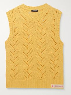 Alpaca-Blend Sweater Vest - Men - Yellow