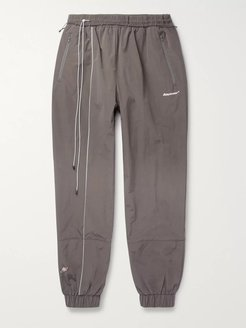 Tapered Shell Track Pants - Men - Gray