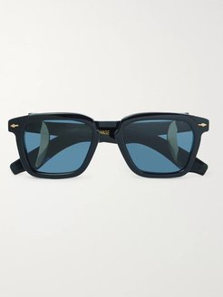 Borodino Square-Frame Acetate Sunglasses - Men - Blue