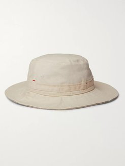 Foraker Reversible Cotton-Twill and Terry Hat - Men - Neutrals