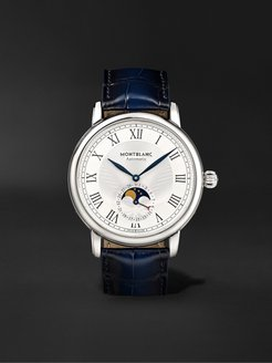 Star Legacy Automatic Moon-Phase 42mm Stainless Steel and Alligator Watch, Ref. No. 126079 - Men - White